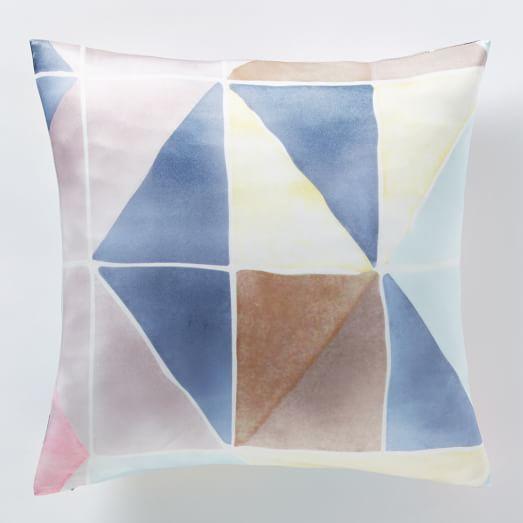 Roar + Rabbit Geo Silk Watercolor Pillow Cover
