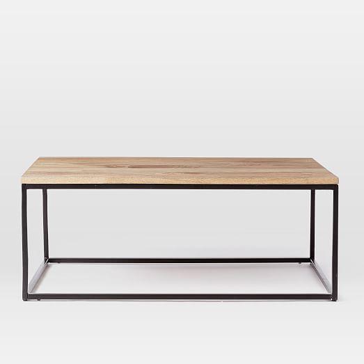 Box Frame Coffee Table Raw Mango West Elm