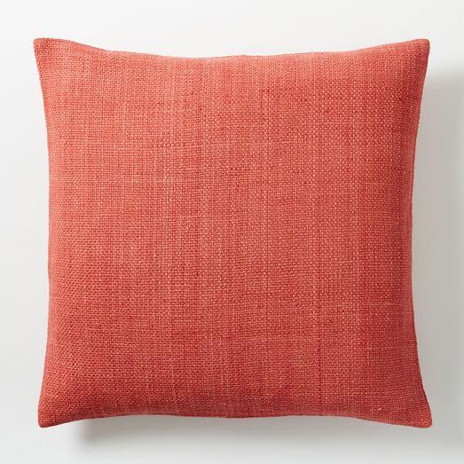 Silk Hand-Loomed Pillow Cover - Poppy