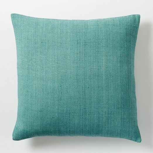 Silk Hand-Loomed Pillow Cover - Peacock