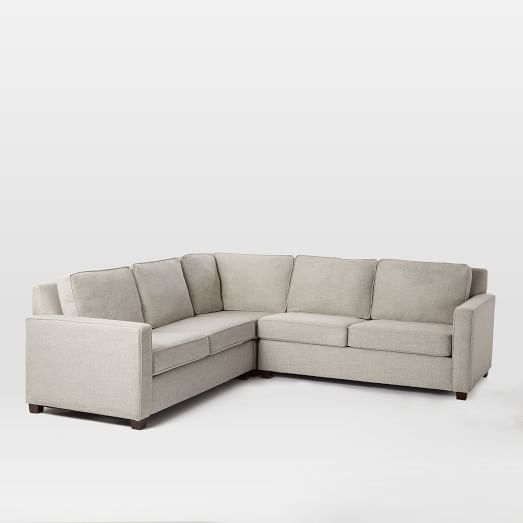 Henry Set 1- Corner,  Right Arm 2-Seater Sofa, Left Arm 2-Seater Sofa , Twill, Gravel