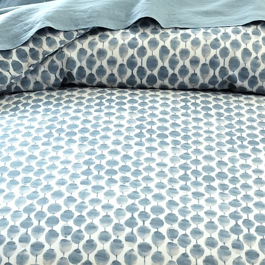 Organic Stamped Dots Duvet Cover Shams West Elm