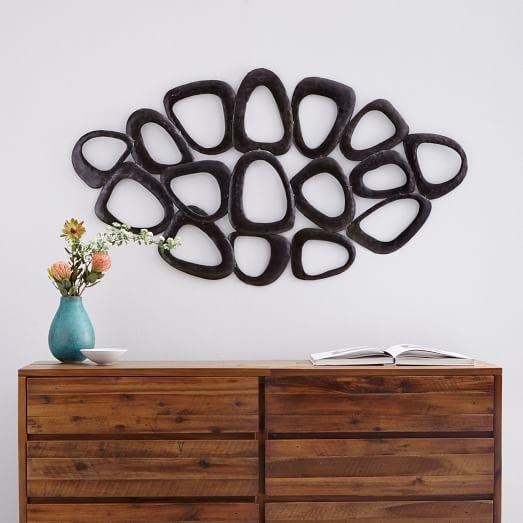 recycled metal wall art loop west elm. Black Bedroom Furniture Sets. Home Design Ideas