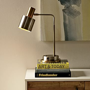 Acrylic Rod Table Lamp Rectangle West Elm