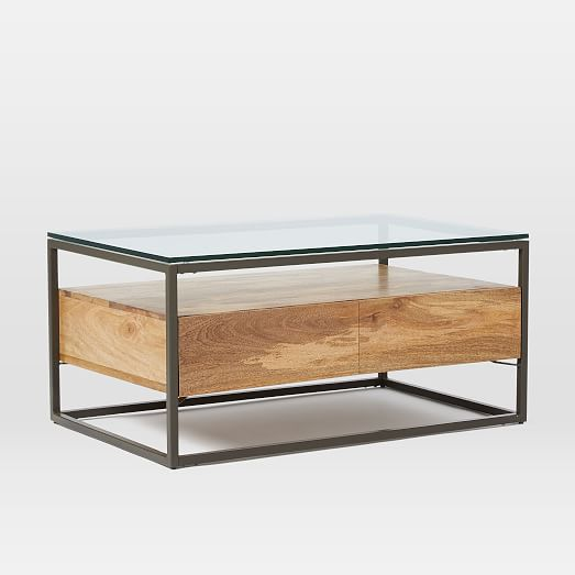 Box Frame Storage Coffee Table West Elm