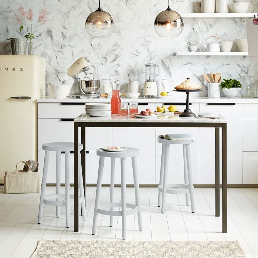 Cafe Bar + Counter Stool - Frost Gray