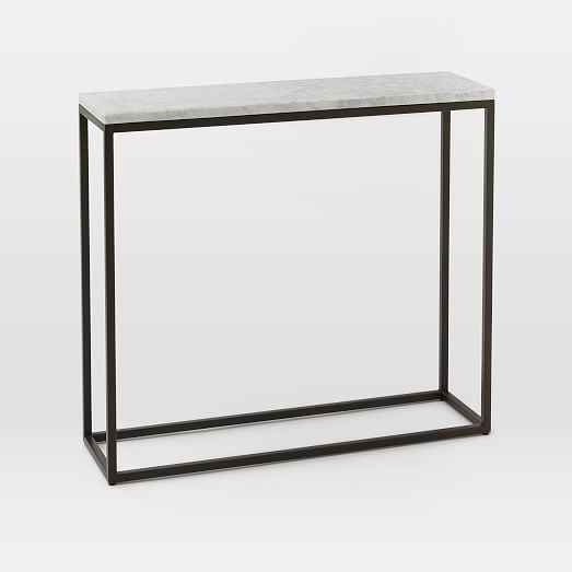 Bronze Coffee Table Australia: Box Frame Console - Marble/Antique Bronze