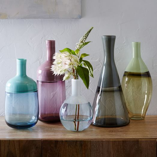 luxe glass vases