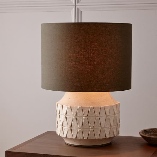 Ceramic Texture Table Lamp Short West Elm