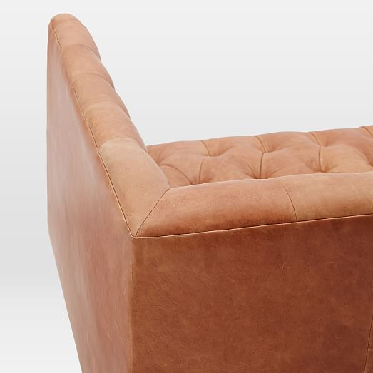 Modern Chesterfield Leather Sofa
