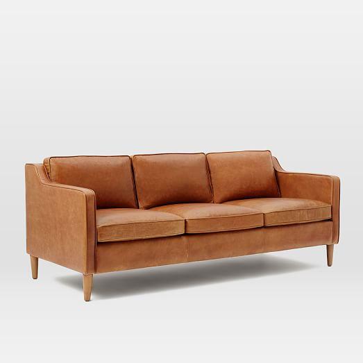 Hamilton Reclining Sectional Sofa By Bassett: Hamilton Leather Sofa