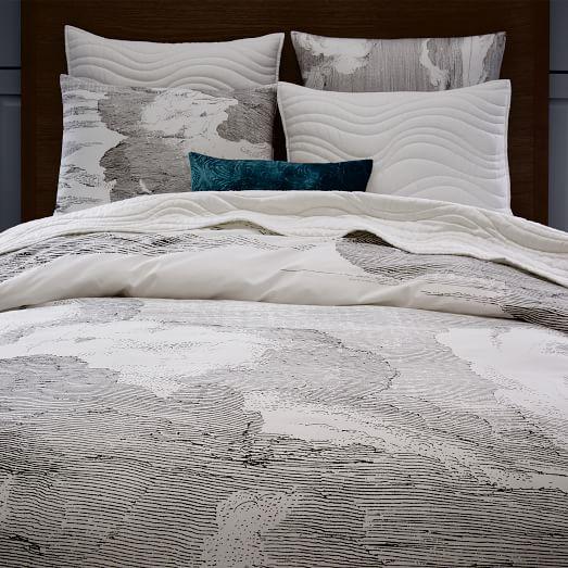 organic cloud duvet cover shams west elm. Black Bedroom Furniture Sets. Home Design Ideas