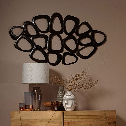 Recycled metal wall art loop west elm for Recycled wall