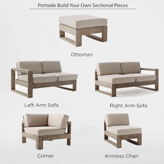 Build your own portside sectional west elm for Build your own sectional sofa plans
