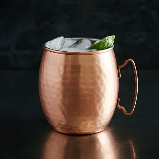 Moscow Mule Mug, Hammered Copper