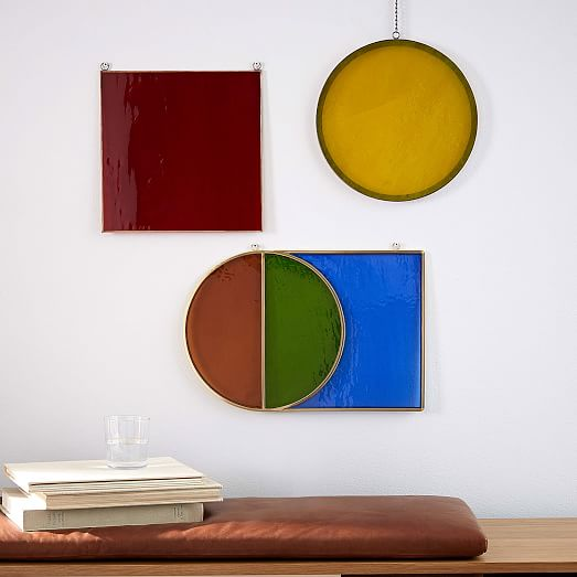 Colored Glass Wall Decor : Commune colored glass wall art west elm
