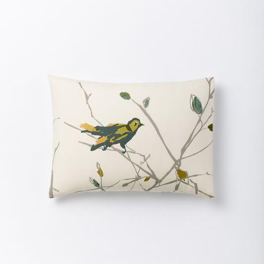 Organic Sparrow Song Standard Sham, Plaster