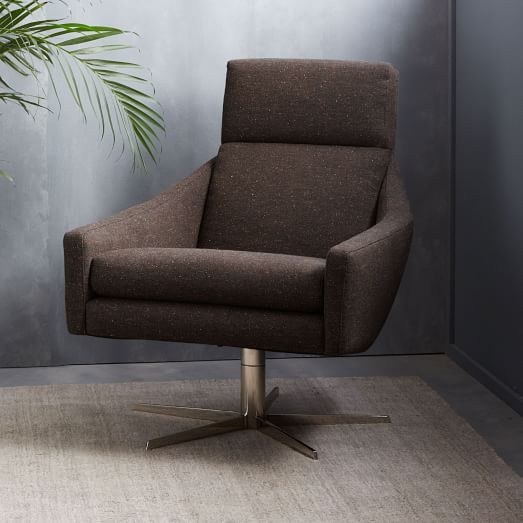 Austin swivel armchair west elm for Swivel armchairs for living room