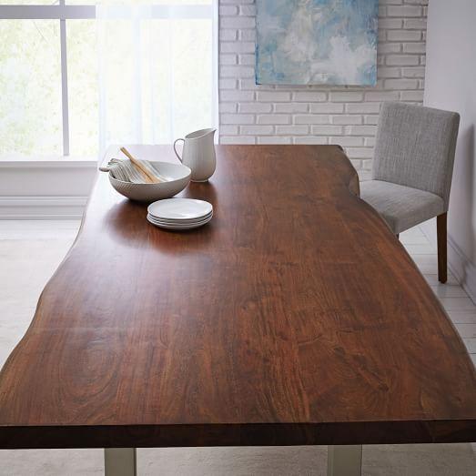live edge wood dining table west elm. Black Bedroom Furniture Sets. Home Design Ideas