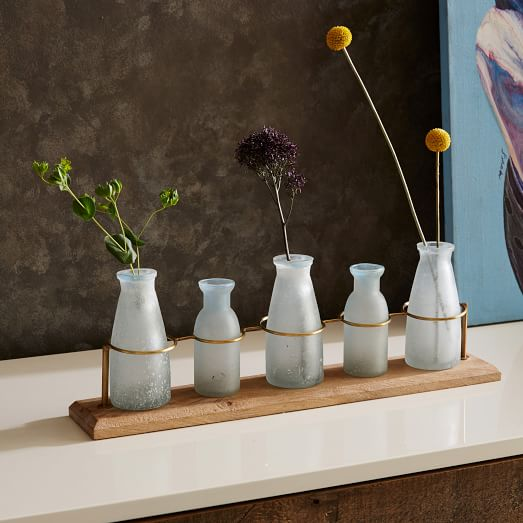 Waterscape bud vase centerpiece west elm