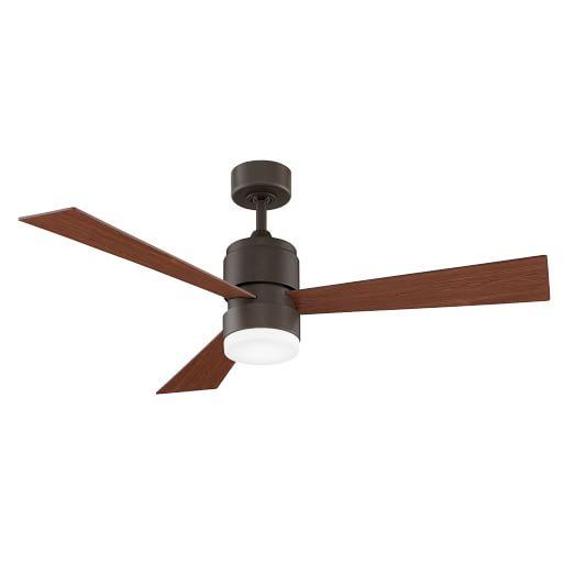 Modern Metal Wood LED Ceiling Fan