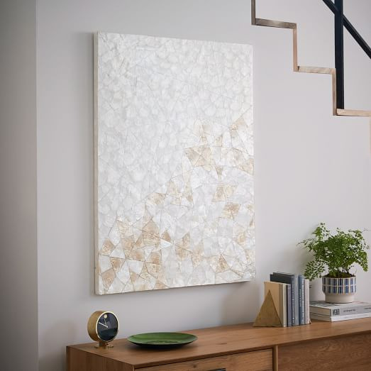 Wall Decor With Crystals : Capiz wall art crystal formation west elm