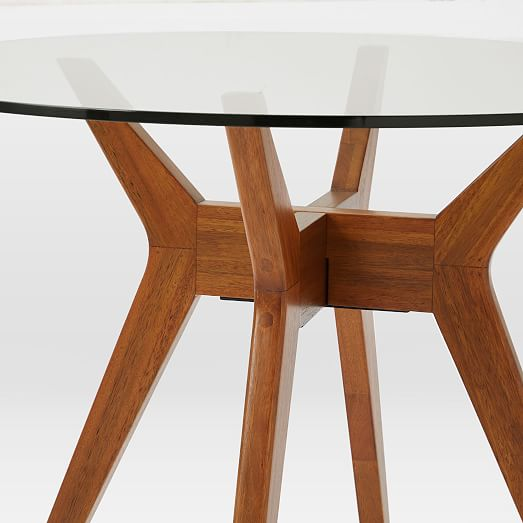 Jensen Round Glass Dining Table West Elm