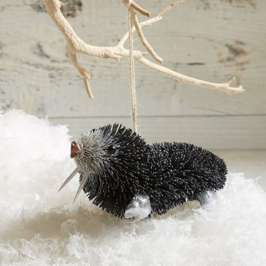 Bottle Brush Animal Ornament, Walrus