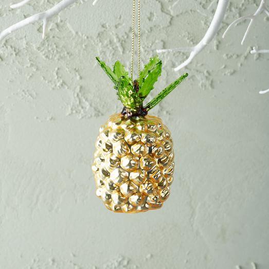 Tropical Glass Ornament Pineapple West Elm