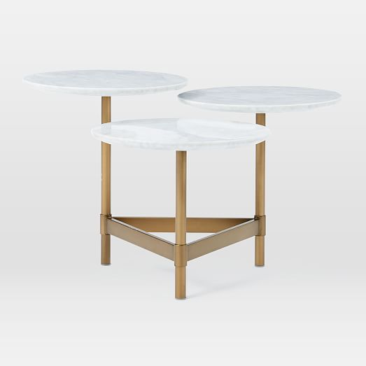 Marble Coffee Table West Elm: Tiered Circles Coffee Table - Marble