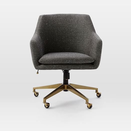 stunning west elm office chair | Helvetica Upholstered Office Chair | west elm
