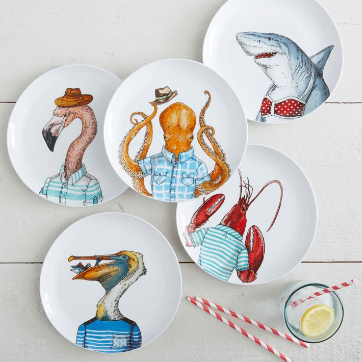 LOVE these dapper animals salad plates