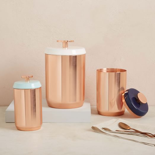 Copper Kitchen Canisters  west elm