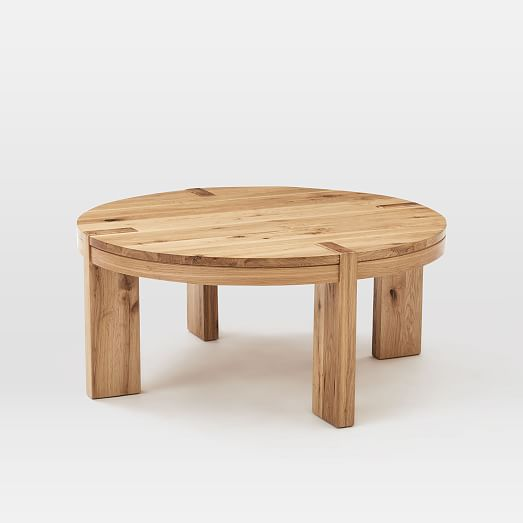 Boerum Round Coffee Table Solid Oak West Elm