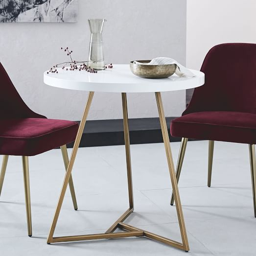 Lacquer Storage Coffee Table West Elm: Lacquer Top Café Table