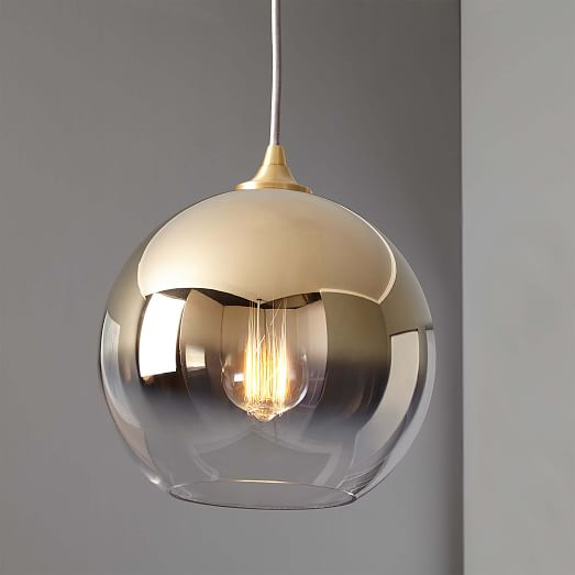Ombre Mirrored Pendant West Elm