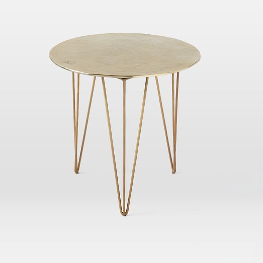 Brass Hairpin Side Table West Elm