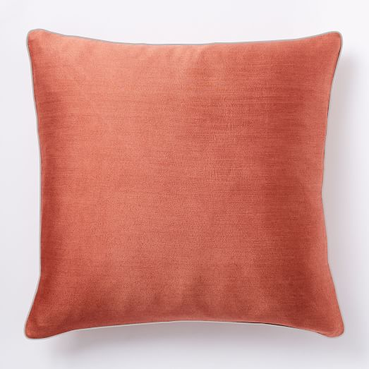 Silken wool pillow cover coral gray 20 x20 west elm West elm pillows
