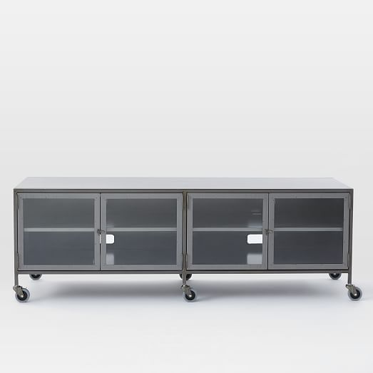Metal Industrial Media Console Large West Elm