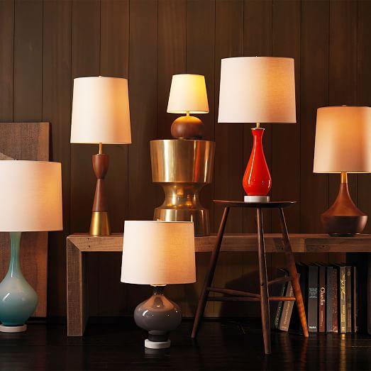 West Elm Lighting Sale: West Elm + Rejuvenation Colored Glass Table Lamp