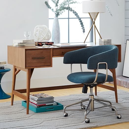 halifax upholstered office chair west elm. Black Bedroom Furniture Sets. Home Design Ideas