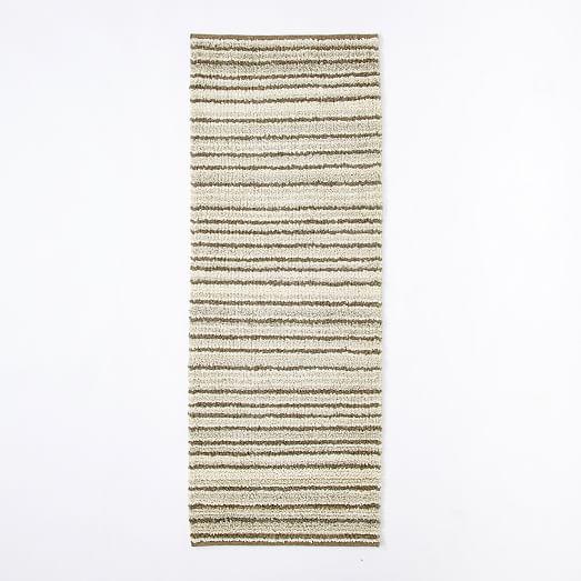Steven Alan Pinstripe Shag Wool Rug West Elm