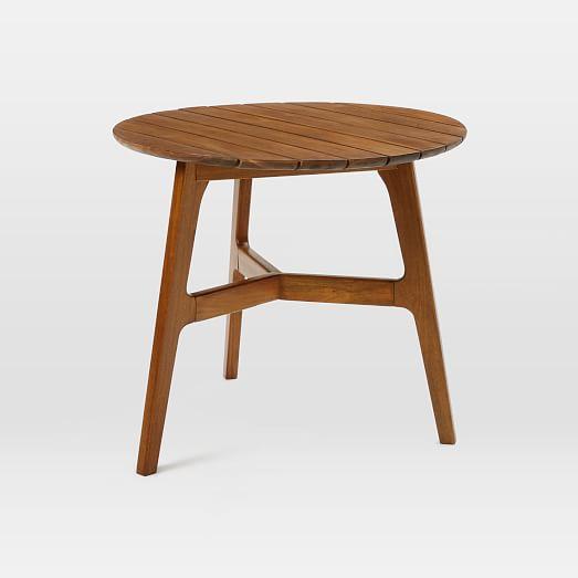 Mid century bistro table auburn west elm for Mid century bistro table