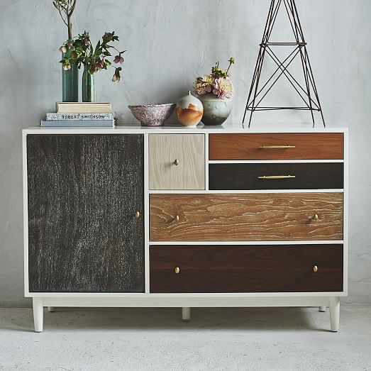 Patchwork dresser multi west elm - Muebles de entrada vintage ...