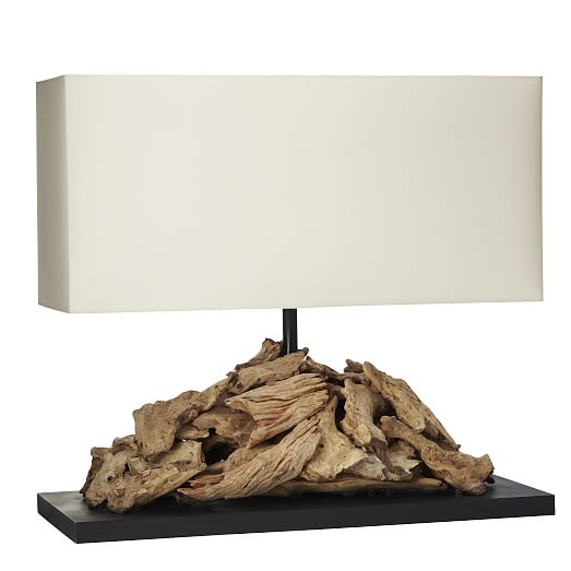 Oblong Driftwood Table Lamp