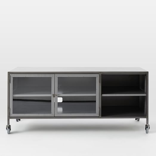 Metal industrial media console small west elm