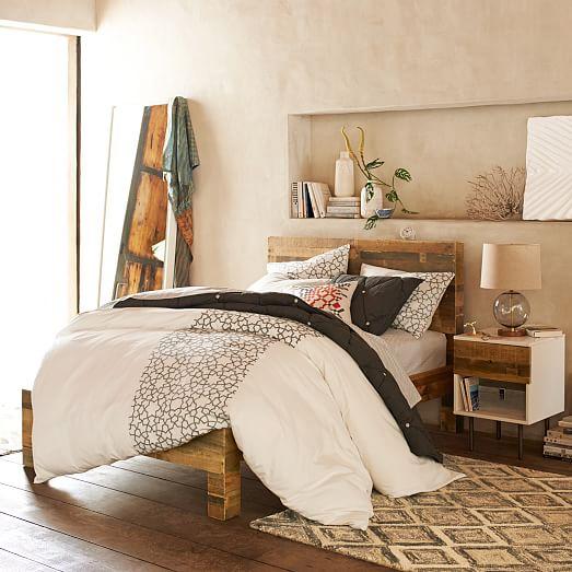Emmerson reclaimed wood bed natural west elm for West elm bedroom ideas