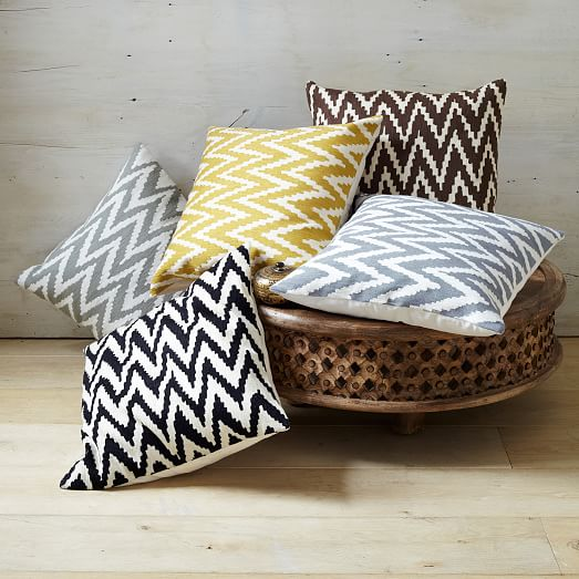 chevron crewel pillow cover iron west elm. Black Bedroom Furniture Sets. Home Design Ideas