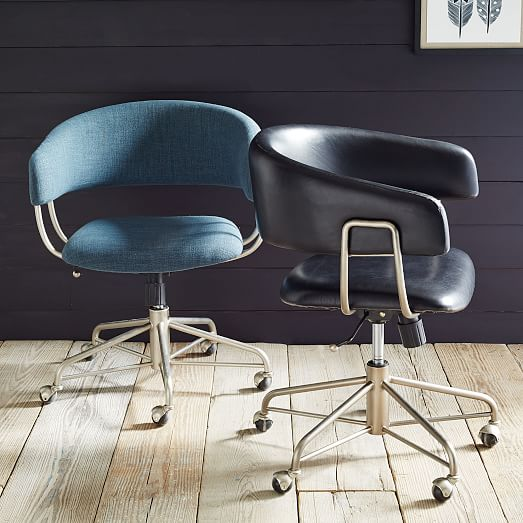 Halifax leather office chair west elm