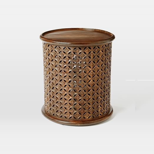 Top Selling Plywood Round Side Wooden Coffee Table And: Carved Wood Side Table